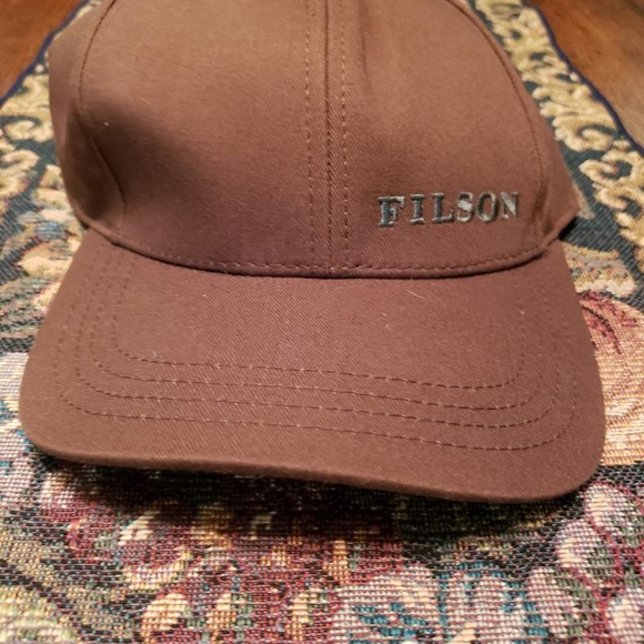 02aed204f FILSON mens brown logger hat NWT